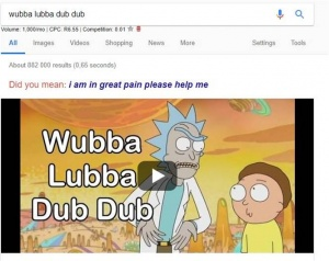 Wubba Lubba Dub Dub Easter Egg Algorithm